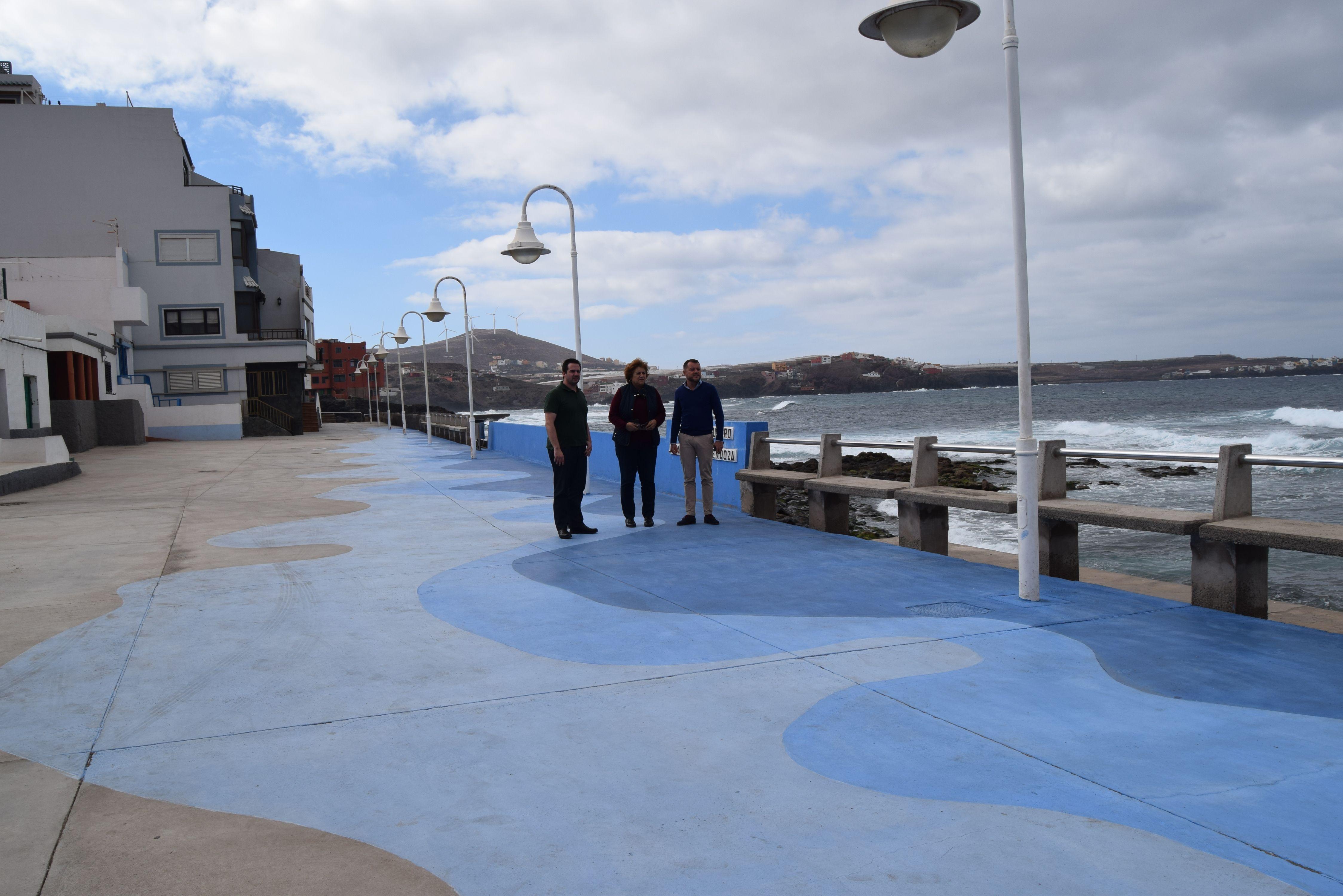 El ayuntamiento de g ldar lleva a cabo actuaciones de mejora en la playa de el agujero - Piscinas naturales galdar ...